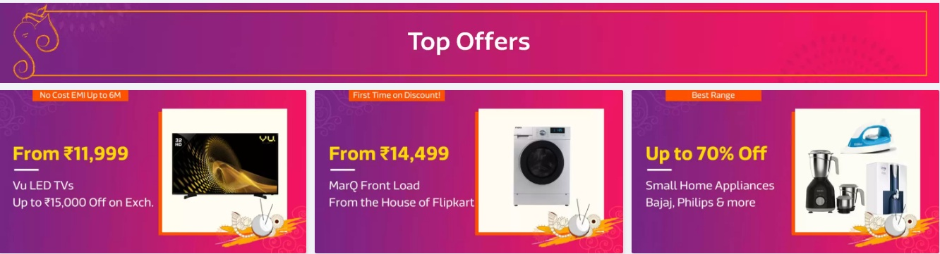 Flipkart Sale on Ganesh Chaturthi Sale