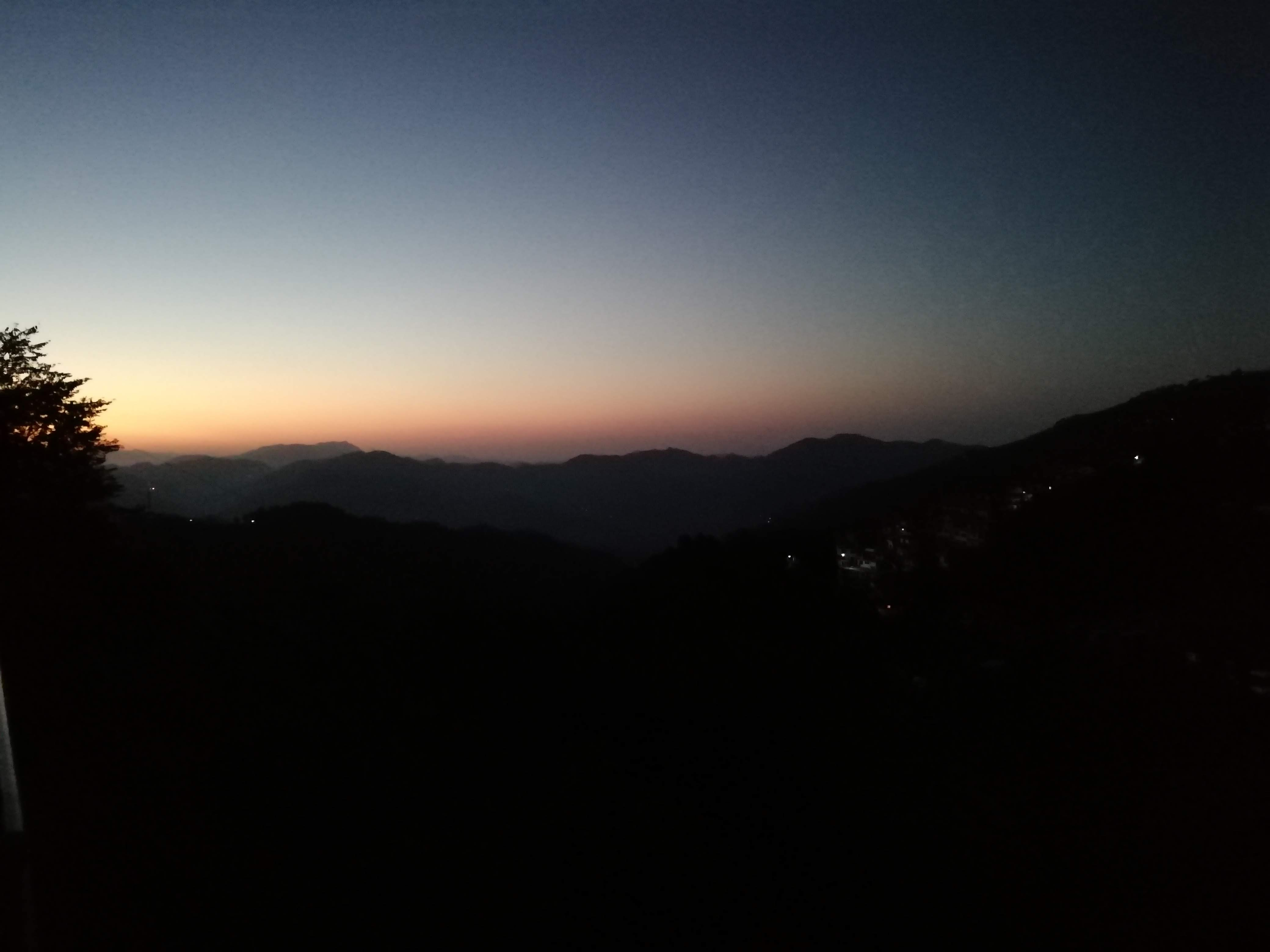 Pre-Sunrise View in Kasauli