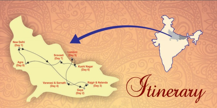 Itinerary of Buddha Circuit Train Popular In India