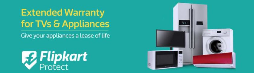 TVs and Home Appliances Flipkart on extended warranty