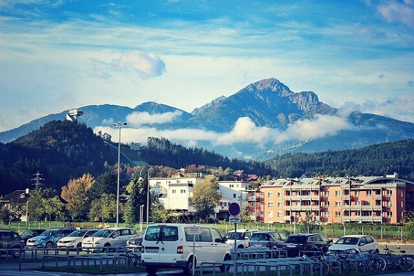 Innsbruck Austria City Cityscape Alps Town