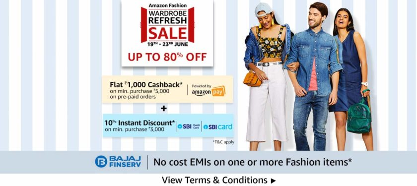 Fashion Sale on Amazon India