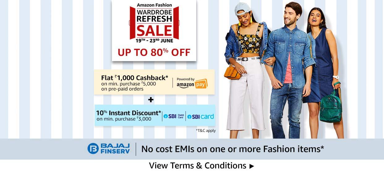 Fashion Sale on Amazon India