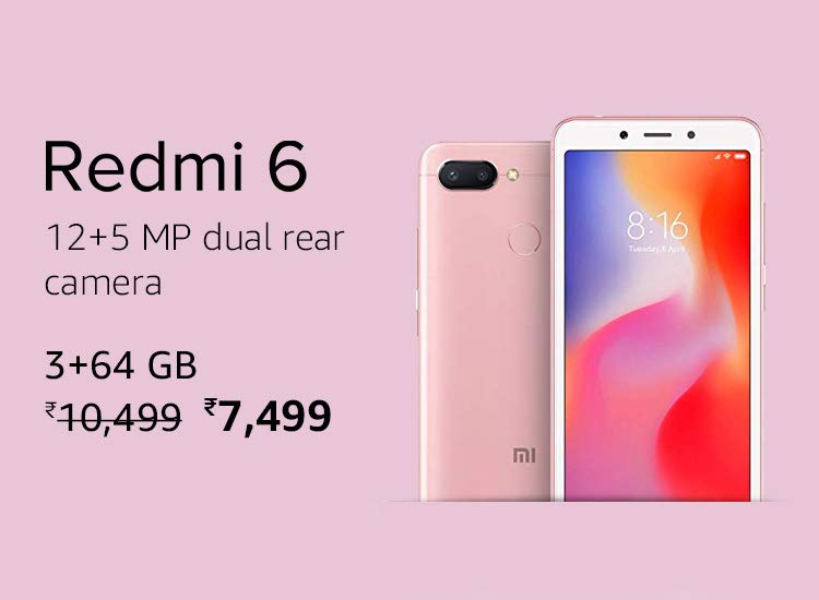 Xiaomi Redmi 6 Latest Price on Amazon on MI Days Offer