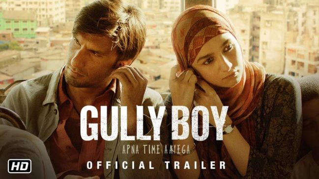 Gully boy 7th most popular movie in India 2019