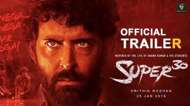 Super 30 10th Most popular bollywood movie in India in 2019