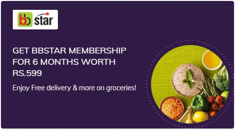 Get Big Basket BBStar Membership for 6 months free on Times Prime Membership worth Rs. 599 - Popular in India