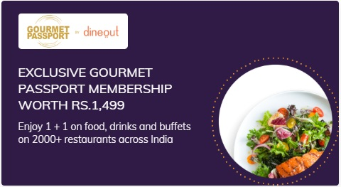 Gourmet Passport from Dineout Membership on purchase of Times Prime Subscription popular in India