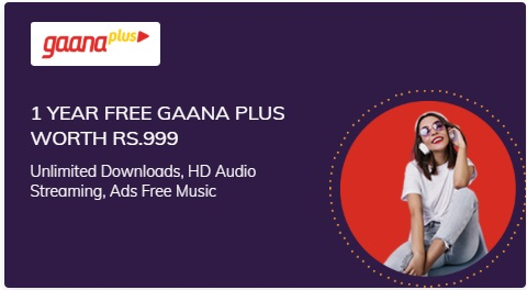 Get 1 Year free Gaana Plus subscription on purchase of Times Prime Membership subscription - Download unlimited HD songs, ads free songs on Gaana