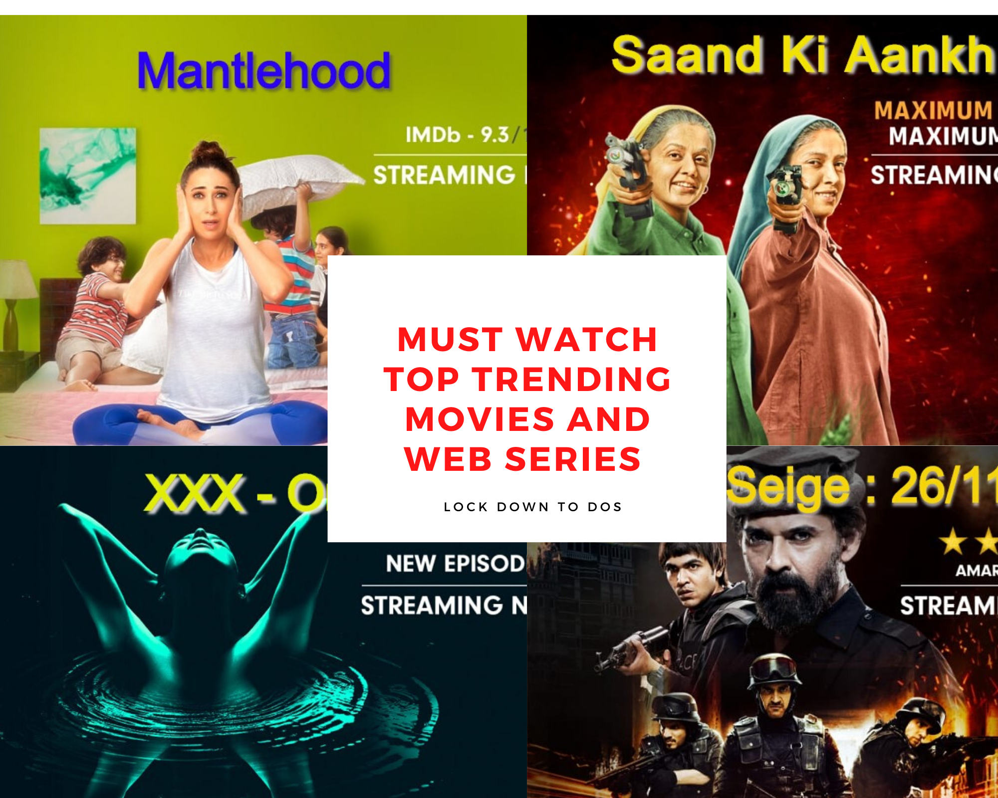 Must Watch Top Trending Movies and web series on Zee5 : Things to do in Lock Down