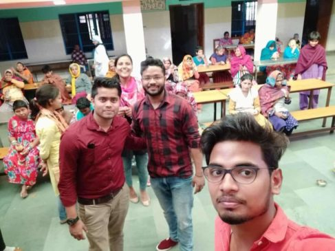 Rajnish Sir at Old age Home RNS Coaching center Gorakhpur