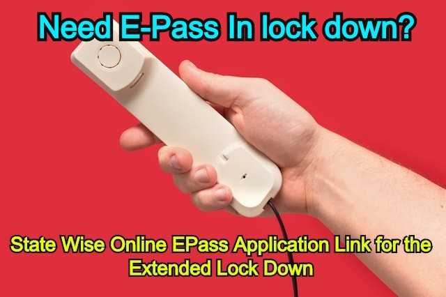 Apply epass online state wise