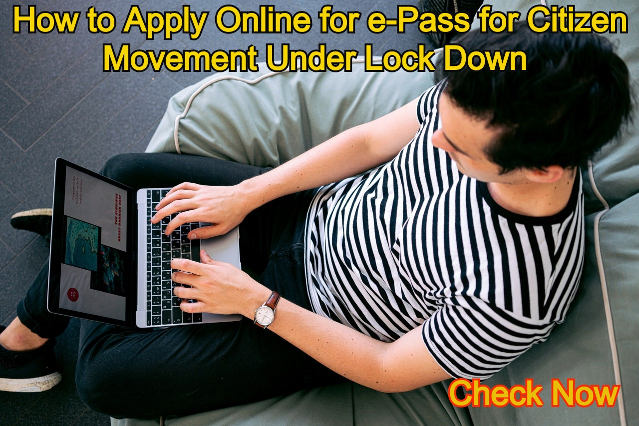 Online Application for Epass from Government Website