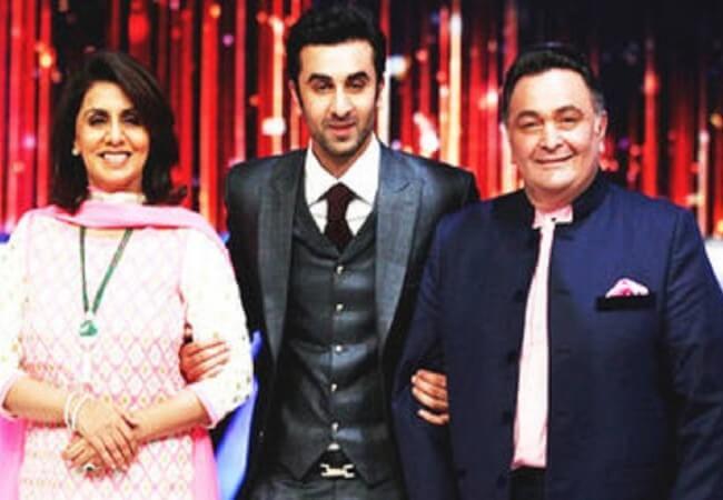 Rishi Kapoor, Neetu Singh Kapoor and Ranbir Kapoor at Jhalak Dikhlaja