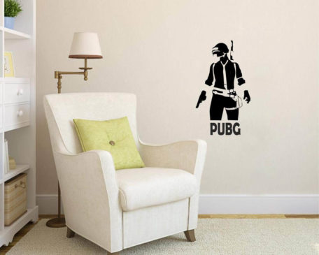 Wall Attraction PUBG Winner Winner Chicken Dinner Wall Sticker Color - Black