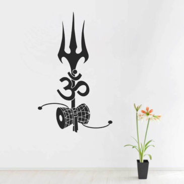 Wall Attraction Om with Shiv Damroo Wall Sticker