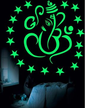 Shri_Ganesh_Night_Glow_Stickers_for_Gift_and_Living_Room_Decoration_popular_in_India_Decorative_Wall_Stickers_and_Murals_for_Our_Home_Interior_Design