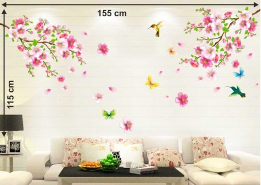 Decals Design 'Flowers Branch' Wall Sticker Popular in India