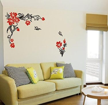 Sticker Yard Floral Flowers Matte Finish PVC Vinyl Wall Sticker