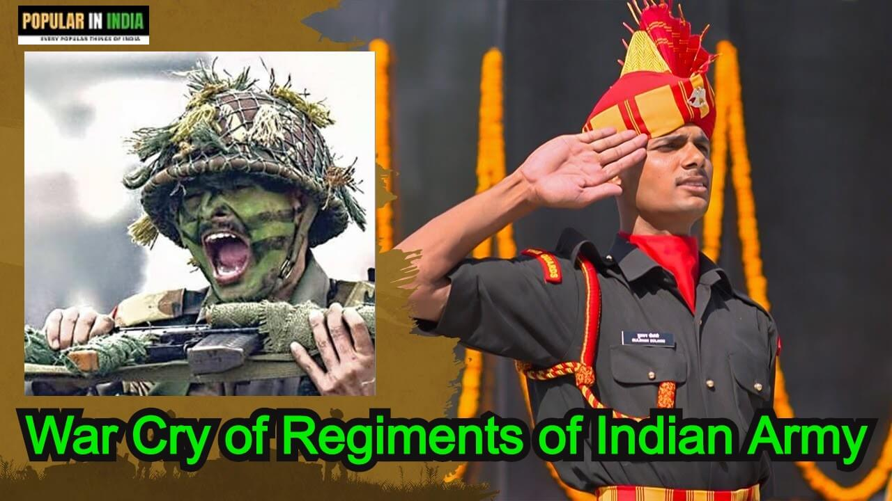 War Cry of regiments of Indian Army popular in India