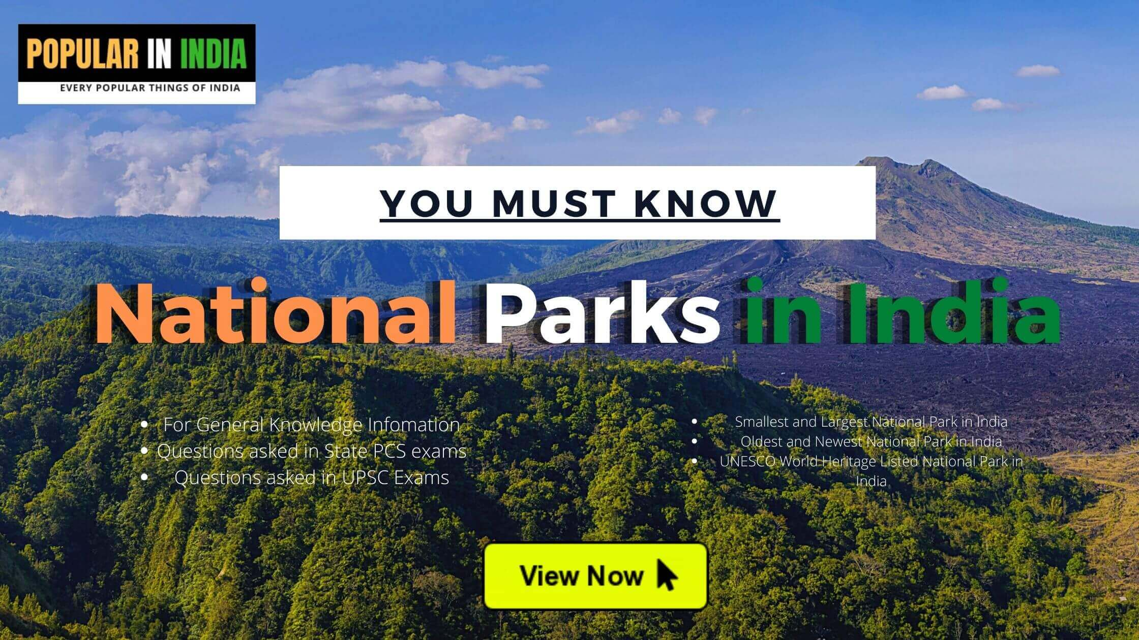 National Parks in India Popular in India