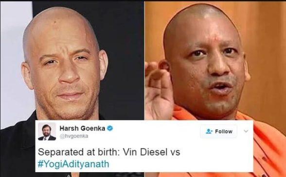 Yogi AdityaNath and Hollywood Actor Vin Diesel