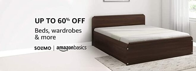 Beds with 60 percent discount on Amazon and Flipkart