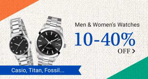 Buy Now Men Watches with high discounts on Flipkart Big Saving Days popular in India