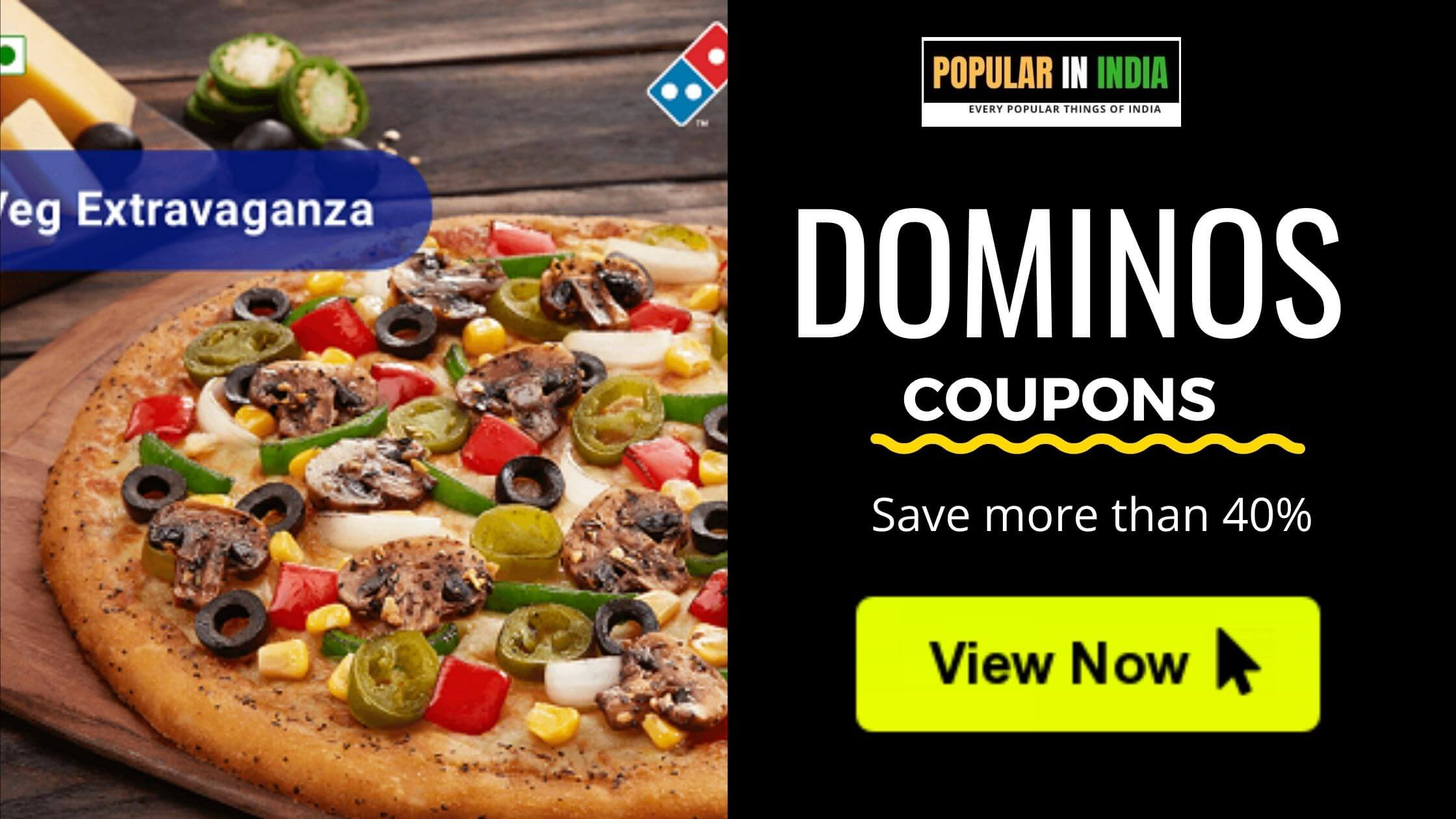 Today's Dominos Coupon Popular in India