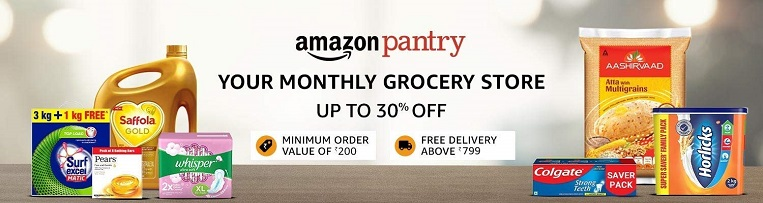Todays discount on amazon Pantry popular in India