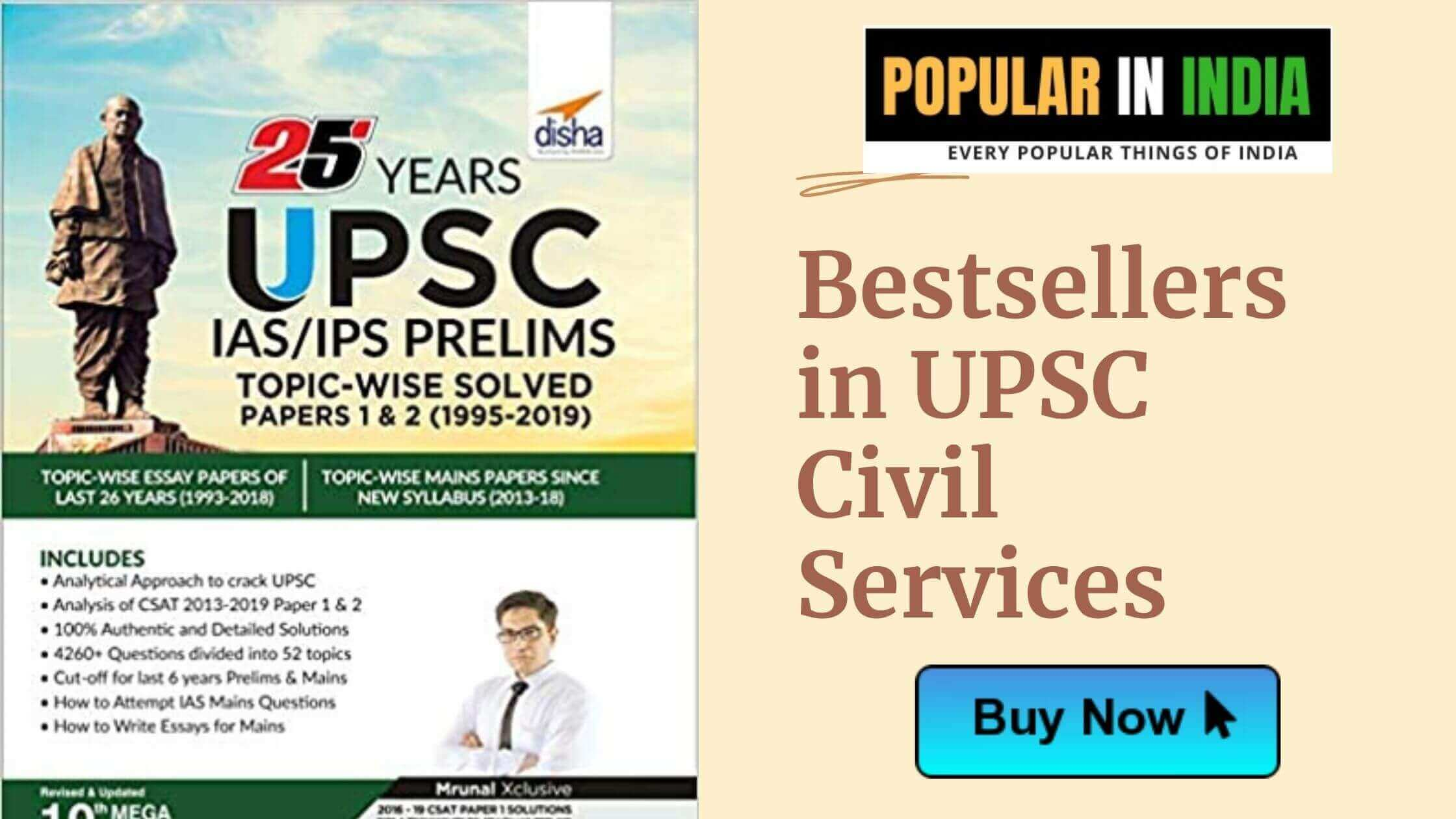 Bestsellers in UPSC Civil Services popular in India