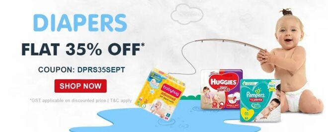 Discount on diaper by firstcry popularinindia
