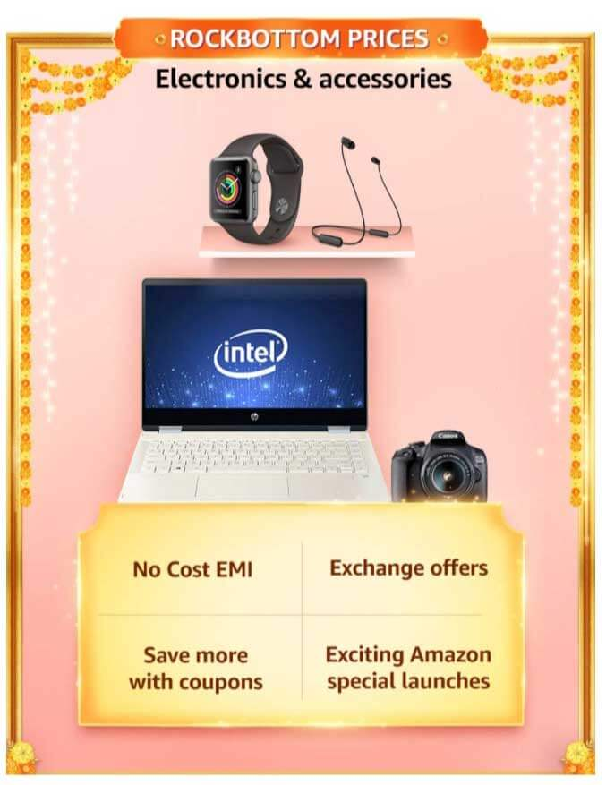 Amazon Great Indian festival Sale 2020 dates - Popular in India