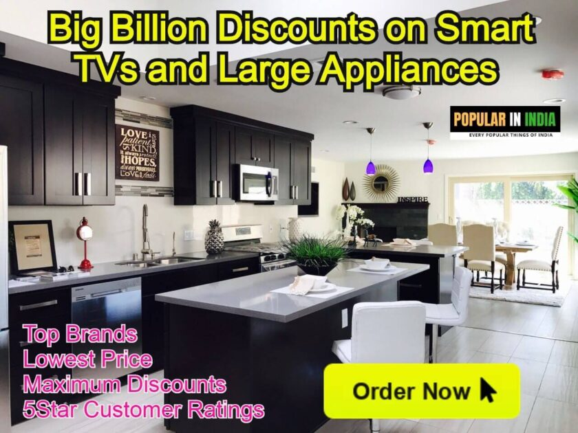 Big Billion Discounts on Smart TVs and Large Appliances UP to 80 Percent
