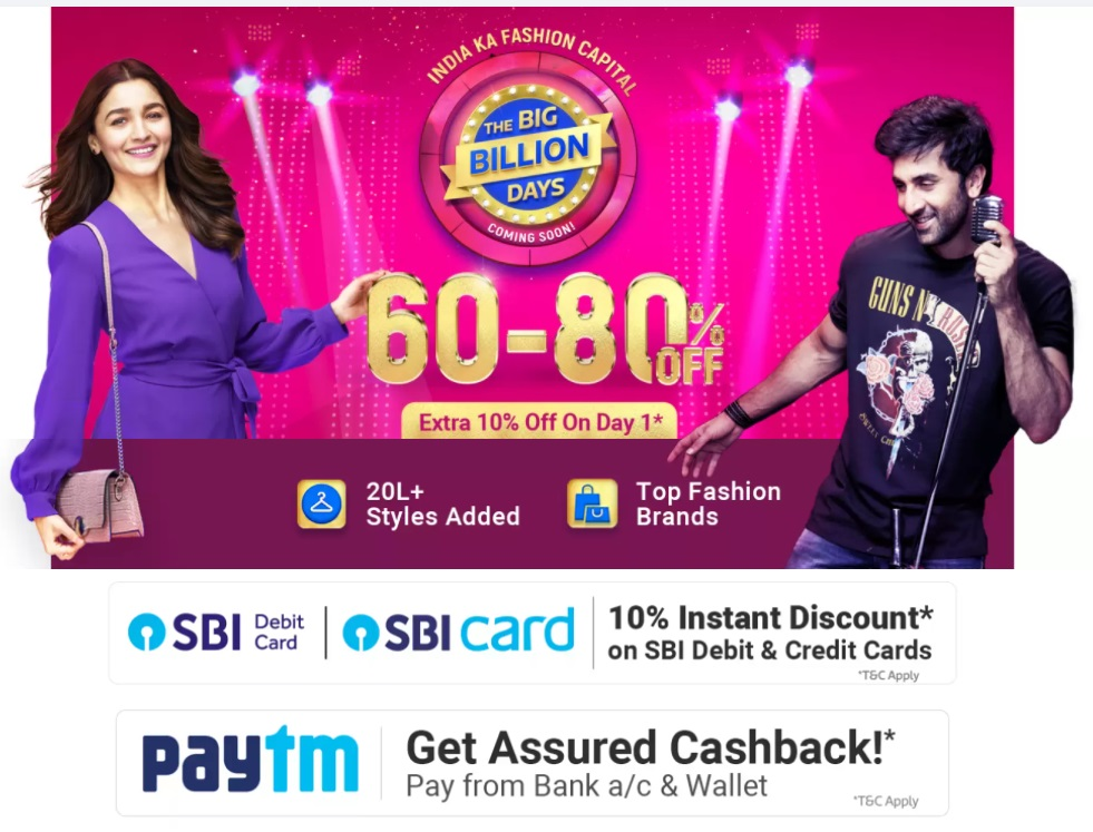 Discounts on Home Decor on Flipkart Big Billions Days Sale