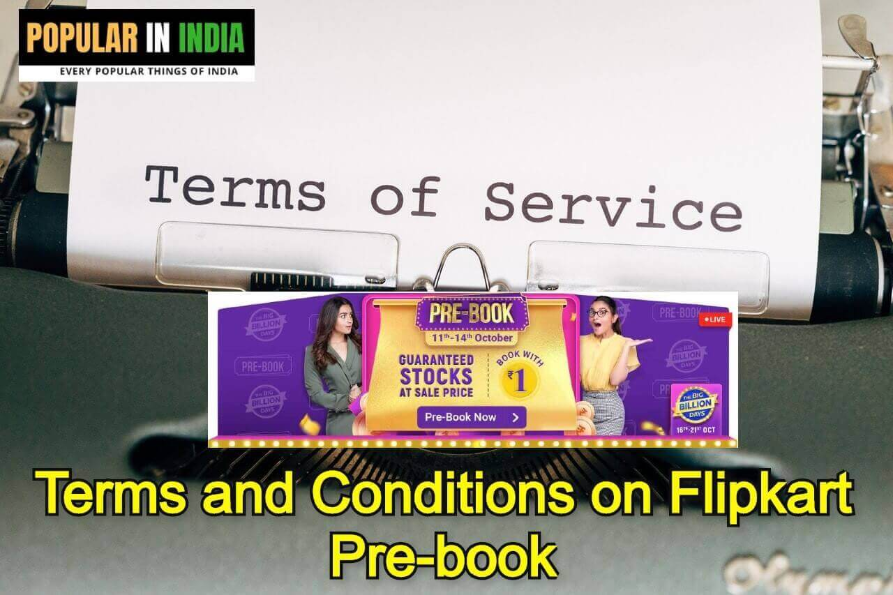 Terms and Conditions on Flipkart Pre-book