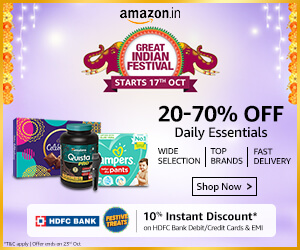 Discounts on Daily Essential on Great Indian Festival Sale