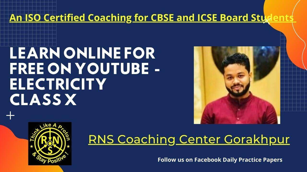 Learn Online for Free on YouTube from Best Coaching Center RNS Gorakhpur