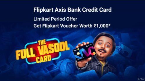 Flipkart Axis Bank Credit Card Online Application
